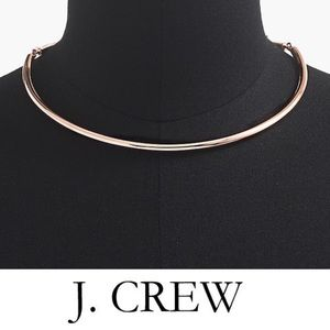 J.Crew Collection Simple Gold Collar Necklace